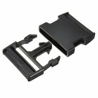 5X(20 mm buckle clip plug closers buckle strap Black HY