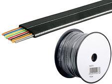 0,16/m 100m Telefonkabel Telefon Leitung Flachkabel 8Adrig Telefon Kabel schwarz