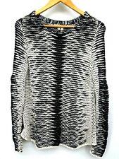 NWOT Indigenous Designs Women's Sweater Black White Knit Small Beautiful