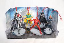 Disney Avengers MARVEL Christmas Ornaments 6pc Set Iron Man Black Widow