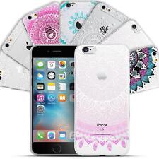 Hülle für Apple iPhone Handy Case Schutzhülle Mandala Henna Motiv Silikon Cover