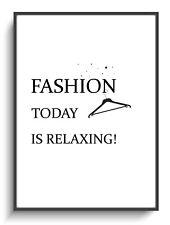 Wandbild Deko A4 Fashion Relaxing Spruch Modern Zimmer Poster Druck Gastgeschenk