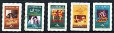 Australian 1995 Centenary of Cinema, set of 5 S/A, used
