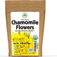 Organic Chamomile Flowers Herbal Tea Matricaria Chamomilla 1 lb Bulk Kraft BP...