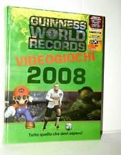 GUINNES WORLD RECORDS VIDEOGIOCHI 2008 USATA OTTIMO STATO ED ITALIANA PM1 39464