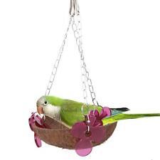 Basket Swing Bird Toy Cages Hanging Toys Parrot Natural Cockatiel Parakeet