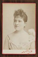 Mlle de Courcy, Actrice de théâtre, Cabinet card, Photo Nadar Paris