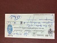 b1u ephemera cashed barclays bank cheque 1948 april 501094