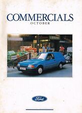 1989 Ford UK COMMERCIAL TRUCK Brochure:FIESTA,ESCORT,P100 PickUp,TRANSIT VAN/BUS
