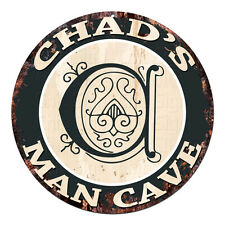 CPMC-0121 CHAD'S MAN CAVE Rustic Chic Tin Sign Man Cave Decor Gift Ideas