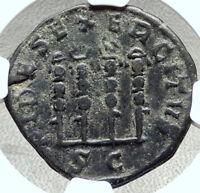 PHILIP I the Arab Ancient 244AD Rome Sestertius Coin Legion STANDARDS NGC i68406