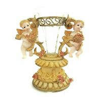 Glass Bud Vase Hand Painted Angels Cherubs Victorian Sweet Angel Collection