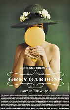 GREY GARDENS BROADWAY WINDOW CARD - CHRISTINE EBERSOLE * FULL CREDITS