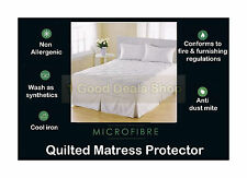 Quilted Mattress Protector Sheet Machine Washable Matress Cover Gift Single Size