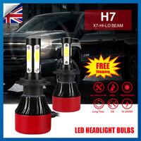 2PCS Car 250W 30000LM H7 LED Conversion Headlight KIT 6500K Bulbs Xenon White