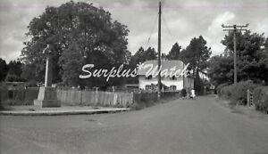 B/W Negative St Mary Bourne Hampshire Village Scene 1949 +Copyright Y516