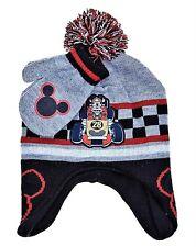 MICKEY MOUSE DISNEY Fleece-Lined Peruvian Beanie Hat & Mitten Set w/ Pom-Pom $22