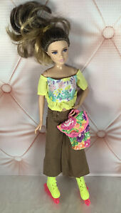 Skipper Barbie Outfit Clothes Lot Top Pants With Rollerblades and Purse