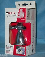 Chrome Delta Botanical Bath Robe Hook 76035 with Various Color Button Inserts