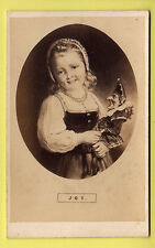 Victorian CDV - Mr Punch Held by Young Dutch Girl Joy - Punch & Judy Photo