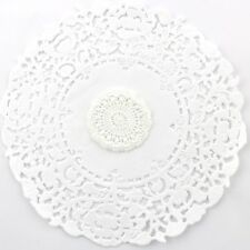 2 x White lace embroidered flowers for millinery , hair and crafts
