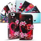 Handy Hülle für Apple iPhone 4 / 4S Flip Case Motiv Tasche Schutz Cover Wallet