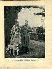 1930 Book Plate Print Bull Mastiff Athos Farcroft Felon Frajeur James Dunn