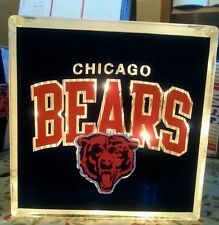 Lighted Chicago Bears Glass Block Light~ Home Decor~Gift~Lamp