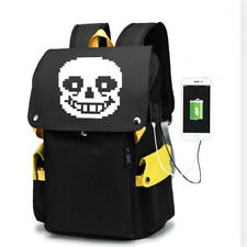 Game Undertale Anime Zipper Backpack Travel School Laptop bags Racksack satchel