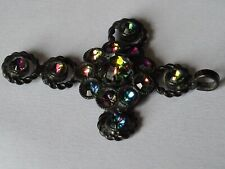 Vintage Bijoux fantaisie Costume Jewellery Cross Croix  Pendent MR 303