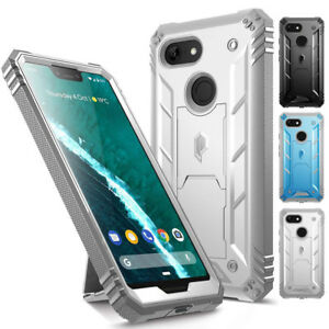Case For Google Pixel 3 XL Full-body Rugged Shockproof Cover with Kickstand