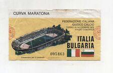 Biglietto Ticket ITALIA BULGARIA Torino Stadio Comunale 20 settembre 1978