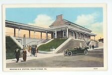 Reading Railroad Station Depot VALLEY FORGE PA Vintage Pennsylvania Postcard