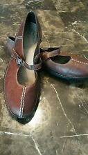 Clarks brown leather Mary Janes size 10