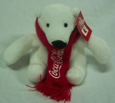 "Coca-Cola Mini Coke Polar Bear 4"" Plush Stuffed Animal Toy New"
