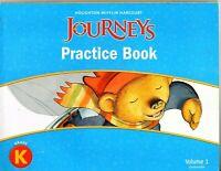 JOURNEYS: Practice Book Consumable Volume 1 - GRADE K - Houghton Mifflin *NEW*