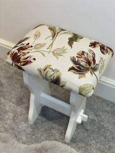 Laura Ashley Gosford Paprika Dressing table stool chalk paint shabby chic