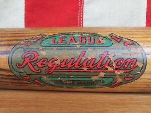 Vintage 1920s King Of The Field H&B Wood Baseball Bat Decal League Regulation 33