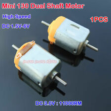 2PCS DC 1.5V-6V 3V 12000RPM 130 DC Motor Dual Shaft axle Mini DIY RC Car Toy Fan