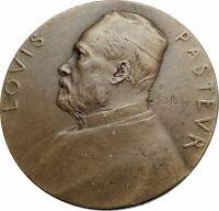 1922 FRANCE 100th Anniversary LOUIE LOUIS PASTEUR Biologist Chemist Medal i80274