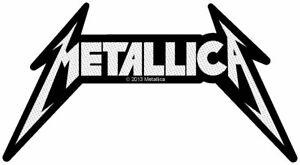 Metallica shaped logo sew-on cloth patch 70mm x 120mm (rz)