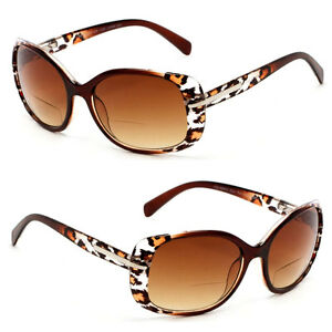 Women Fashion Square Bifocal Reading Sunglasses Sun Readers UV Protect