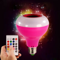 E27 LED RGB Bulb Bluetooth Wireless Smart Music Audio Speaker Light + Remote GB