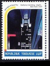 Togo 2000 MNH, Painting by Georgia o Keeffe, Radiator Building Night New York