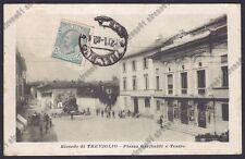 BERGAMO TREVIGLIO 23 TEATRO Cartolina viaggiata 1920