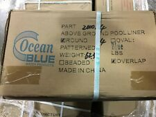 """24 ROUND SOLID BLUE ABOVE GROUND Overlap Swimming POOL Liner OCEAN BLUE 54"""" WALL"""