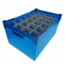 More details for glassware storage boxes container crates - glassjacks - light blue