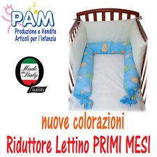 RIDUTTORE PER LETTINO BAMBINO PRODOTTO ITALIANO CUSCINO PARACOLPI PAM BABY