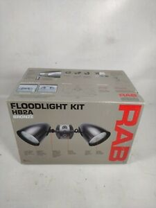 RAB Lighting HB2A HB1 Bell Shaped Dual Floodlight PAR38 Type, 300W Power, Bronze