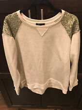Ming Casual Womens Shirt Top long sleeve Sz- Large Cream Color